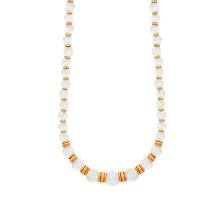 Boucheron 18k Yellow Gold Rock Crystal Necklace // Pre-Owned