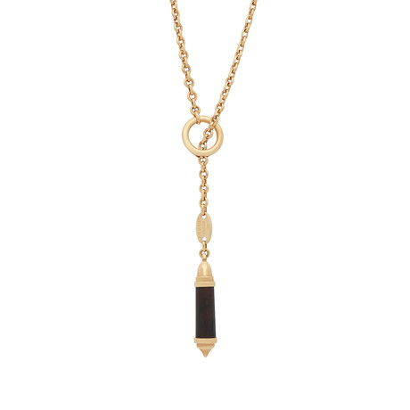 Chaumet 18k Yellow Gold Wood Necklace // Pre-Owned