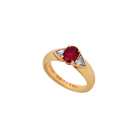 Cartier 18k Yellow Gold Ruby + Diamond Ring // Ring Size: 6 // Pre-Owned