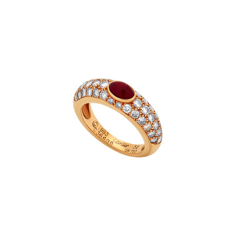Cartier 18k Yellow Gold Diamond + Ruby Ring // Ring Size: 6 // Pre-Owned