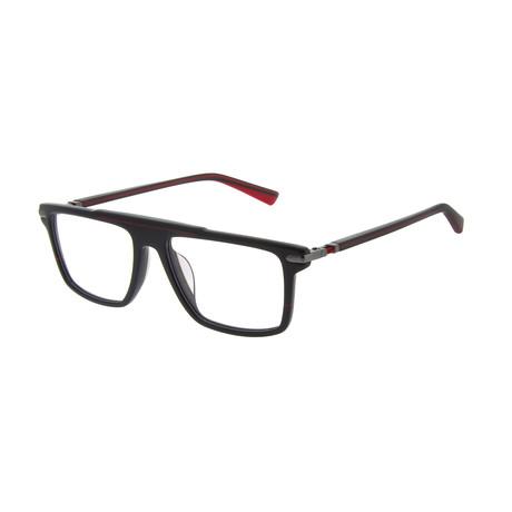 Men's DA1009 Optical Frames // Black + Red