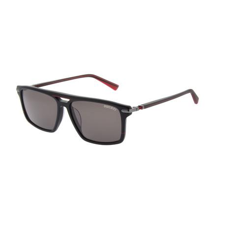 Men's DA5008 Sunglasses // Black + Red