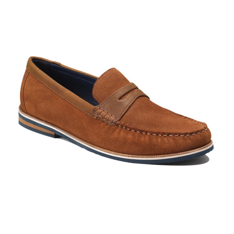 Duval Suede Boat Shoes // Tan (Euro: 39)