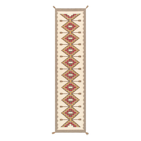 Navajo Style Hand-Woven Wool Area Rug // V34