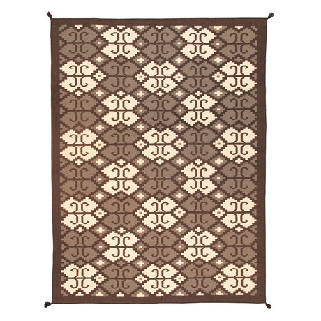 Navajo Style Hand-Woven Wool Area Rug // V10