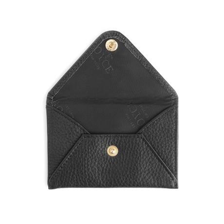 Envelope Style Business Card Holder (Black)