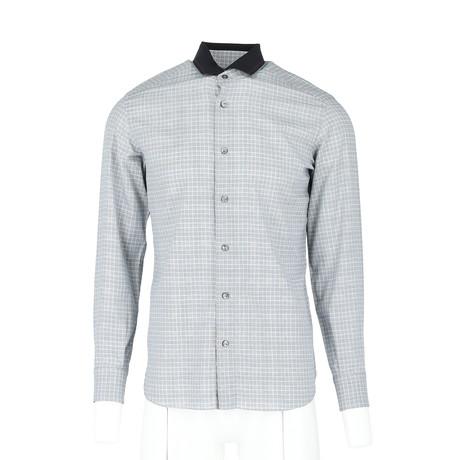 Cliff Long-Sleeve Fitted Shirt // Medium Blue (XS)