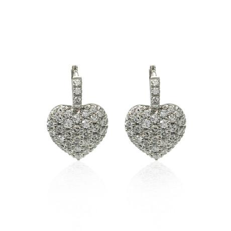 Crivelli 18k White Gold Diamond Earrings I