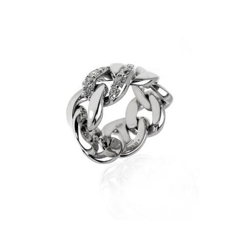 Crivelli 18k White Gold Diamond Ring // Ring Size: 6.75