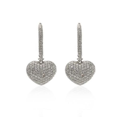 Crivelli 18k White Gold Diamond Earrings II