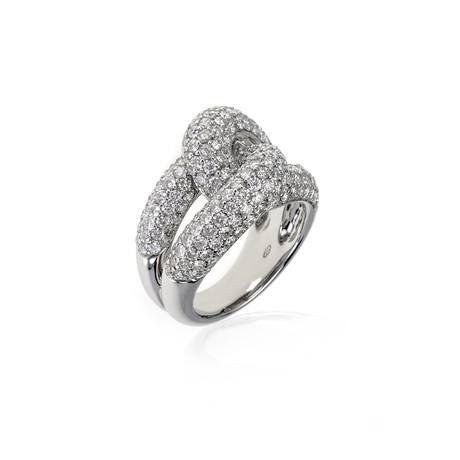 Crivelli 18k White Gold Diamond Ring I // Ring Size: 7