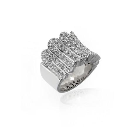 Crivelli 18k White Gold Diamond Ring I // Ring Size: 6.5