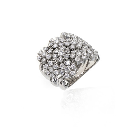 Crivelli 18k White Gold Diamond Ring III // Ring Size: 6.5