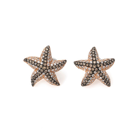 Crivelli 18k Rose Gold Diamond Earrings
