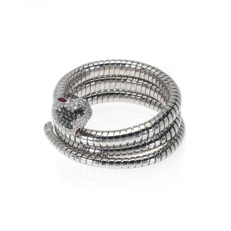 Crivelli 18k White Gold Diamond + Ruby Bracelet