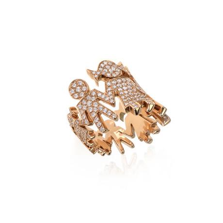 Crivelli 18k Rose Gold Diamond Ring // Ring Size: 6.5