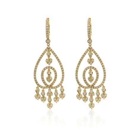 Crivelli 18k Yellow Gold Diamond Earrings I