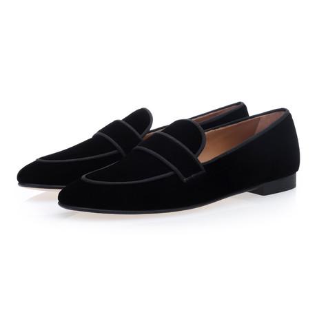 Bolero Velour Slippers // Black (Euro: 39)