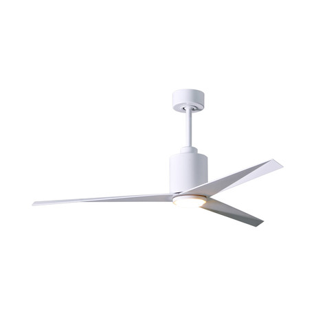 Eliza // 3-Blade Paddle Fan + Frosted Glass Light Kit