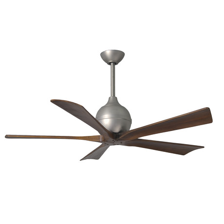 "Irene // 5-Blade 52"" Paddle Fan // Brushed Nickel Finish"