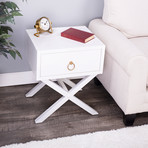 Theo White End Table