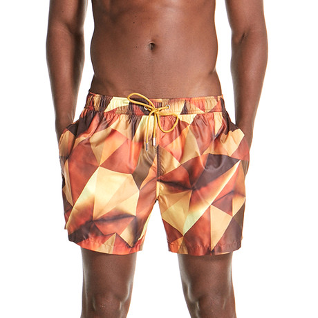 Aaron Swim Shorts // Gold (S)