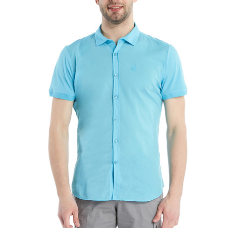 Nathan Slim Fit Shirt // Aqua (S)