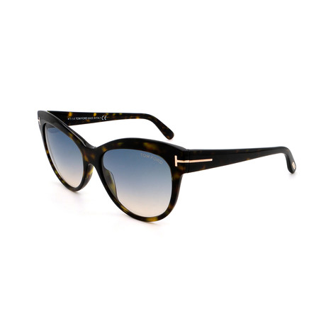 Women's FT0430-52P Cat Eye Sunglasses // Havana