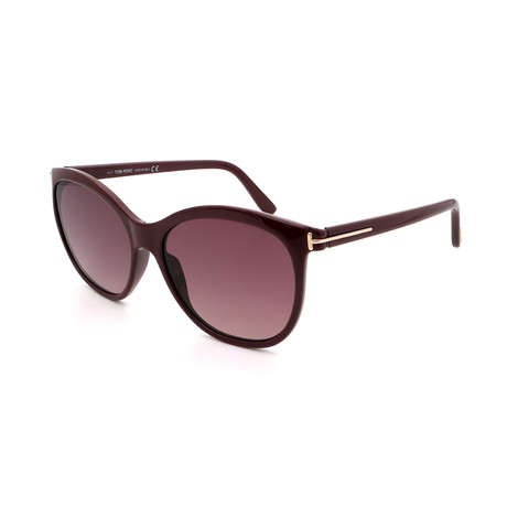 Women's FT0568-69T Sunglasses // Shiny Bordeaux + Brown
