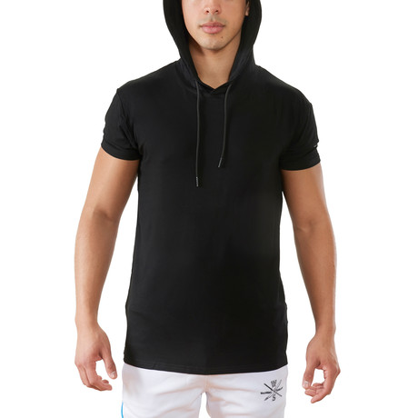 Terra Luxe Cotton Hooded Tee // Black (S)