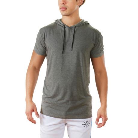 Terra Luxe Cotton Hooded Tee // Gray (S)