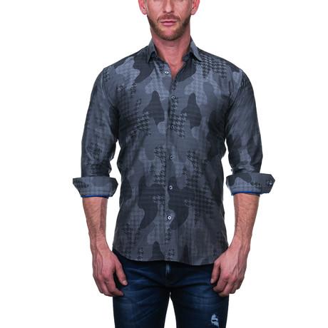 Fibonacci Star Dress Shirt // Gray (S)