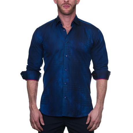 Fibonacci Dress Shirt // Art Blue (S)