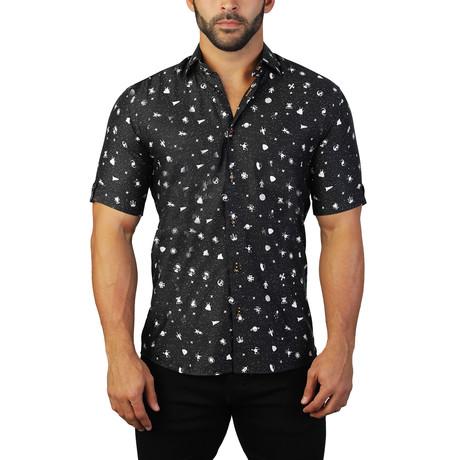 Galileo Dress Shirt // Galaxy Black (S)