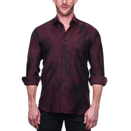 Fibonacci Star Dress Shirt // Red (S)