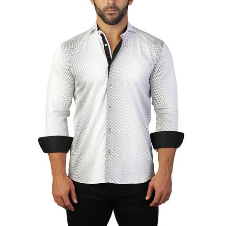 Einstein Dress Shirt // Black + White (S)