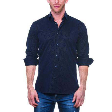 Fibonacci Arrow Dress Shirt // Dark Blue (S)