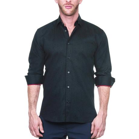 Fibonacci Dot Dress Shirt // Black (S)