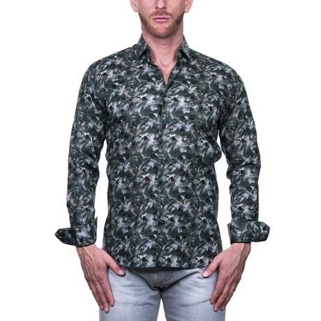 Fibonacci Dress Shirt // Forest Green (S)