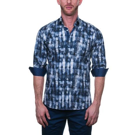 Fibonacci Artwork Dress Shirt // Blue (S)