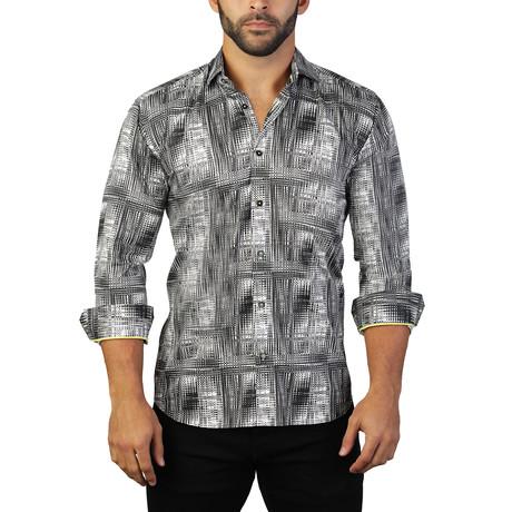 Fibonacci 1970 Dress Shirt // Black + White (S)