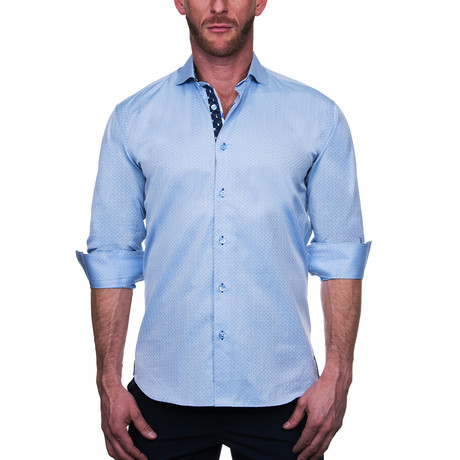 Einstein Point Dress Shirt // Light Blue (S)