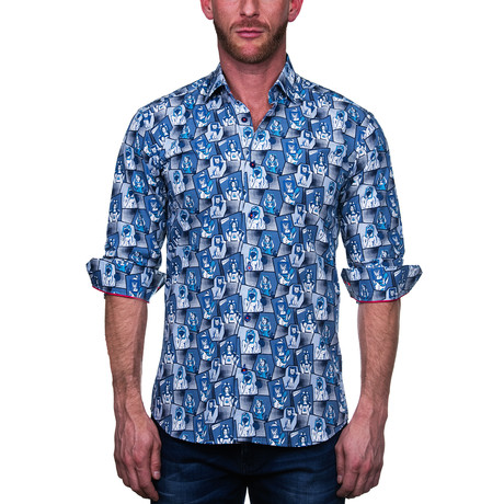 Maceoo // Fibonacci Dress Shirt // Hello Blue (S)
