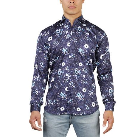 Maceoo // Fibonacci Dress Shirt // Navy (S)