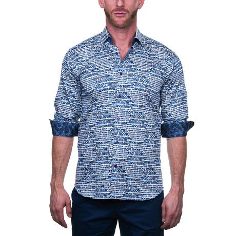 Fibonacci Dress Shirt // Coffee Blue (S)