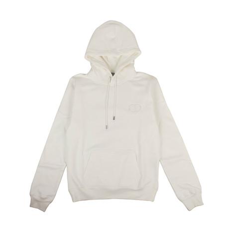 CD Icon' Logo Hooded Sweatshirt // White (XXXS)