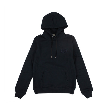 CD Icon' Logo Hooded Sweatshirt // Navy Blue (XXXS)