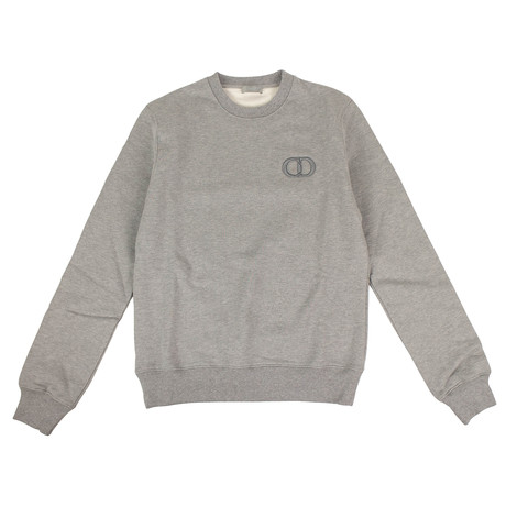 CD Icon' Logo Crew-Neck Sweater // Gray (XXXS)