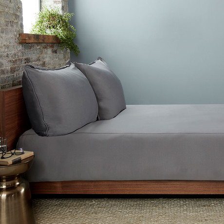 THERMA LUX Cooling Duvet Cover // Graphite (Full/Queen)