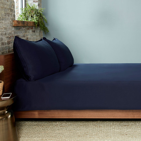 THERMA LUX Cooling Duvet Cover // Navy (Full/Queen)